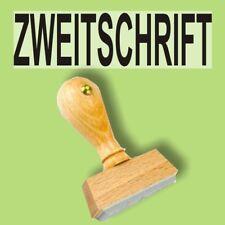 ZWEITSCHRIFT - Holzstempel 10 x 35mm Büro Stempel