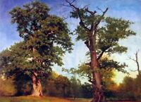 Albert Bierstadt Pioneers of the Woods Fine Art Print on Canvas Repro Small 8x10