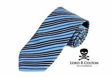 Lord R Colton Basics Tie - English Blue & Navy Stripe Necktie - $49 Retail New