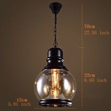Glass Pendant Light Modern Ceiling Lights Kitchen Lamp Wood Chandelier Lighting