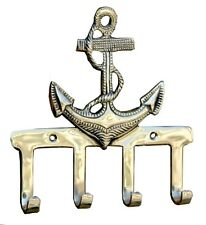 Nautical Anchor Style Hook Shiny Brass Towel/Coat Home/Office Wall Hanging Hooks