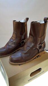 Spada Kensington Motorcycle boots Motorbike Chelsea - Brown size 45