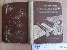 Technik Streichgarn Vigognespinner Spinner DDR 1956 Crimmitschau Spinner Fotos