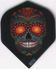 Orange Eyed Candy Skull Dart Flights: 3 per set