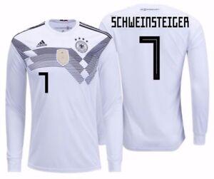 ADIDAS B. SCHWEINSTEIGER GERMANY LONG SLEEVE HOME JERSEY FIFA WORLD CUP 2018