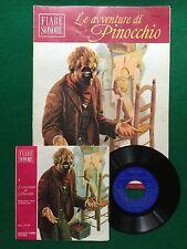 """LE AVVENTURE DI PINOCCHIO 4 , FIABE SONORE + Disco 45"""" , 1a Ed Fabbri (1966)"""