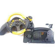 Yellow Mad Catz MC2 multi ps2 xbox gamecube Wired Racing Wheel and Pedals An