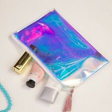 New Women Clutch Makeup Laser Bag Holographic Small Clear Hologram Purse