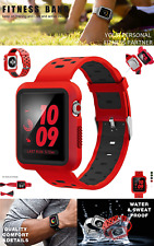 Apple Watch Band 42mm with Case iWatch Sport Soft Strap Series 3 2 1 Nike +, Red