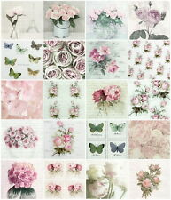 20x PARTY TAVOLA diversa Carta Tovaglioli per Decoupage Decopatch Sagen MIX di fiori