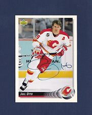 Joel Otto signed Calgary Flames 1992-93 Upper Deck hockey card