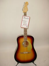 Fender Usa Select Kingman V Acoustic Electric Guitar Sunburst Tuner Capo Strap