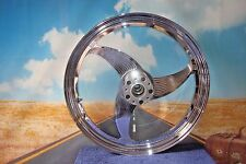 "WHEEL 19"" x 2.25"" FRONT CHROME 3 Spoke WING Fit HARLEY Chopper Custom  EVO Y4"