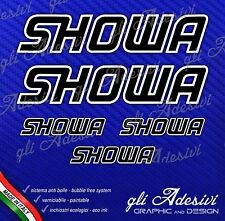 5 Adesivi HRC SHOWA Moto Gp Nero bordo Bianco