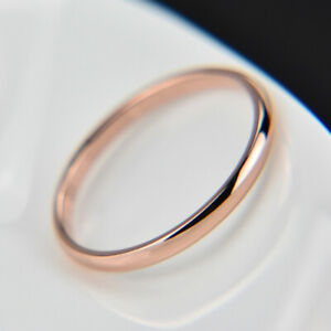 Couples Rings Jewelry Titanium Steel Smooth Ring Women Men  Allergy Free 1PC