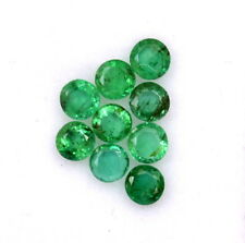 0.89 Cts Natural Emerald Round Cut 2.75 mm Lot 09 Pcs Untreated Loose Gemstones
