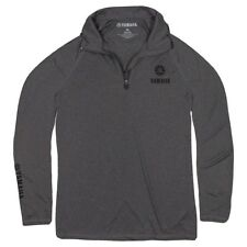 Yamaha's 129 1/4-Zip Performance Pullover in Gray - Size LG - Genuine Yamaha