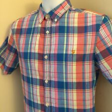 Farah Shirt with Madras Check Slim Fit Short Sleeve S -  FRED PERRY POLO LACOSTE
