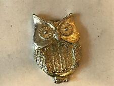 Owl TG124 Made from Solid Fine English Pewter Pin Lapel badge