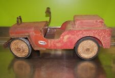 Vintage Structo U.S. Childs FireTruck Ride on Fire Dept N0 1 Pumper Metal Jeep