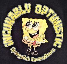 Spongebob Squarepants Girls Short/Cap Sleeve T-shirt Navy Blue ~ Size L ~ 10