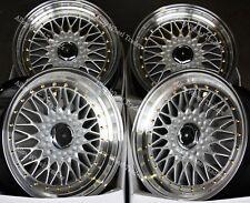 "Alloy Wheels GR RS 15"" For Bmw E30 Fiat Punto Evo Grande Punto 4x100 SPL"