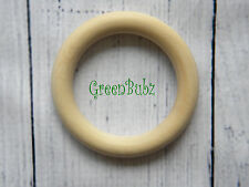 1 100% Organic Maple LARGE Wooden Baby Teething Ring Eco Gift Toy Vegan