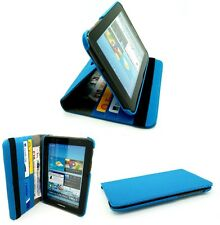 """COVER e supporto rotazione Samsung Galaxy 7.0"""" Tab 2 P3100 & P3110-Blu"""
