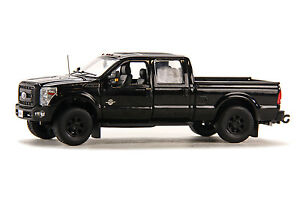 "Ford F250 Crew Cab 6 Ft Bed - ""BLACK"" - Black Wheels 1/50 - Sword #SW1200KM"
