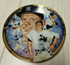 mickey mantle plate hamilton collection  new in box made in u.s.a.