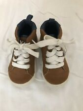 Toys R Us Truly Scrumptious Baby Boots Size 5 High Tops Colors Brown Blue EUC