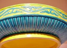 "Antique Mintons Majolica Plate, Bowl, Base, Platter LARGE 12"" Minton Ca. 1878"