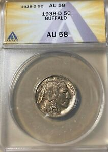 1938-D ANACS AU58 Buffalo Nickel