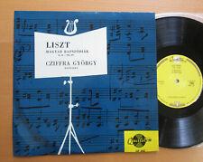 "LP 162 Liszt Hungarian Rhapsodies Gyorgy Cziffra Piano NM/EX Qualiton 10"" Vinyl"