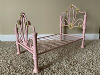American Girl Doll Rebecca's Bed - Pink Frame
