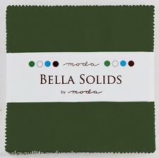 """Moda FABRIC Charm Pack ~ BELLA SOLIDS ~ PINE ~ (9900PP 43) 40 - 5"""" squares"""