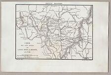 FRANKEN - OBERPFALZ - Karte Rednitz u. Nab. Stich, Kupferstich um 1835