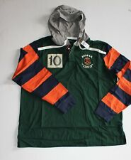 Ralph Lauren Classic Fit Cotton Hooded Rugby Shirt in Size XXL in Green