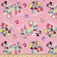 Disney Minnie Pink Happy Helpers On Call! 63723 100% Cotton fabric by the yard