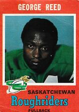 1971 OPC CFL GEORGE REED SASKATCHEWAN ROUGHRIDERS #103 (WASHINGTON ST COUGARS)