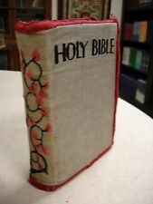 1930 Bible, Revised Version - Handmade Embroidered Binding - FBB-1
