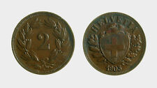 s525_4) Switzerland 2 Rappen KM# 4.2 1903 B