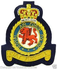 RAF Royal Air Force Police Deluxe Blazer Badge