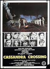 CINEMA-manifesto CASSANDRA CROSSING loren, harris, gardner, PAN COSMATOS