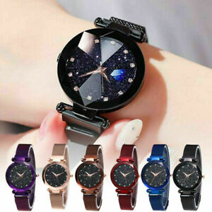 Starry Sky Watch Magnet Strap Free Buckle Stainless Steel For Women Lady Gift