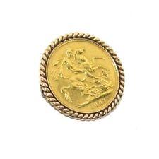 9ct & 22 Quilates Oro Amarillo REINA VICTORIA Fecha 1887 SOVEREIGN COMPLETO