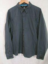 ARC'TERYX Men's L Dark Blue Button Down Long Sleeve Shirt
