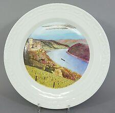 (K203) KPM Kurland, großer Zierteller / Ansichtenteller Flußlandschaft, D=37 cm