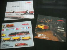 MARKLIN tre Cataloghi Speciali : Novità 1985 + Modelli Export 1989/90 e 1990/91