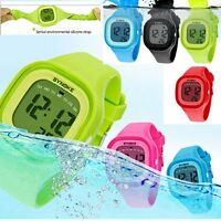 Waterproof Girl Child's LED Digital Sports Watches Silicone Quartz Wrist Watch